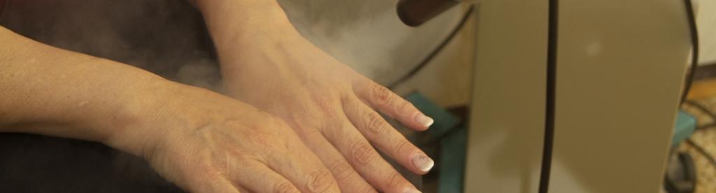 Krioterapia zabieg na dłonie